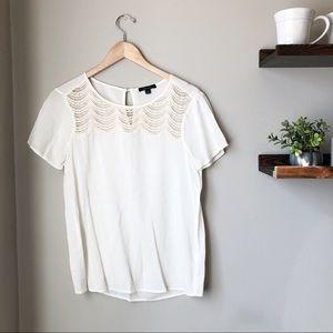 Anthropologie {Ella Moss} | Ivory Crochet Tank Top